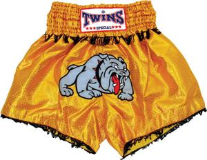 Twins Thai Style Trunks Bulldog W/Fringe